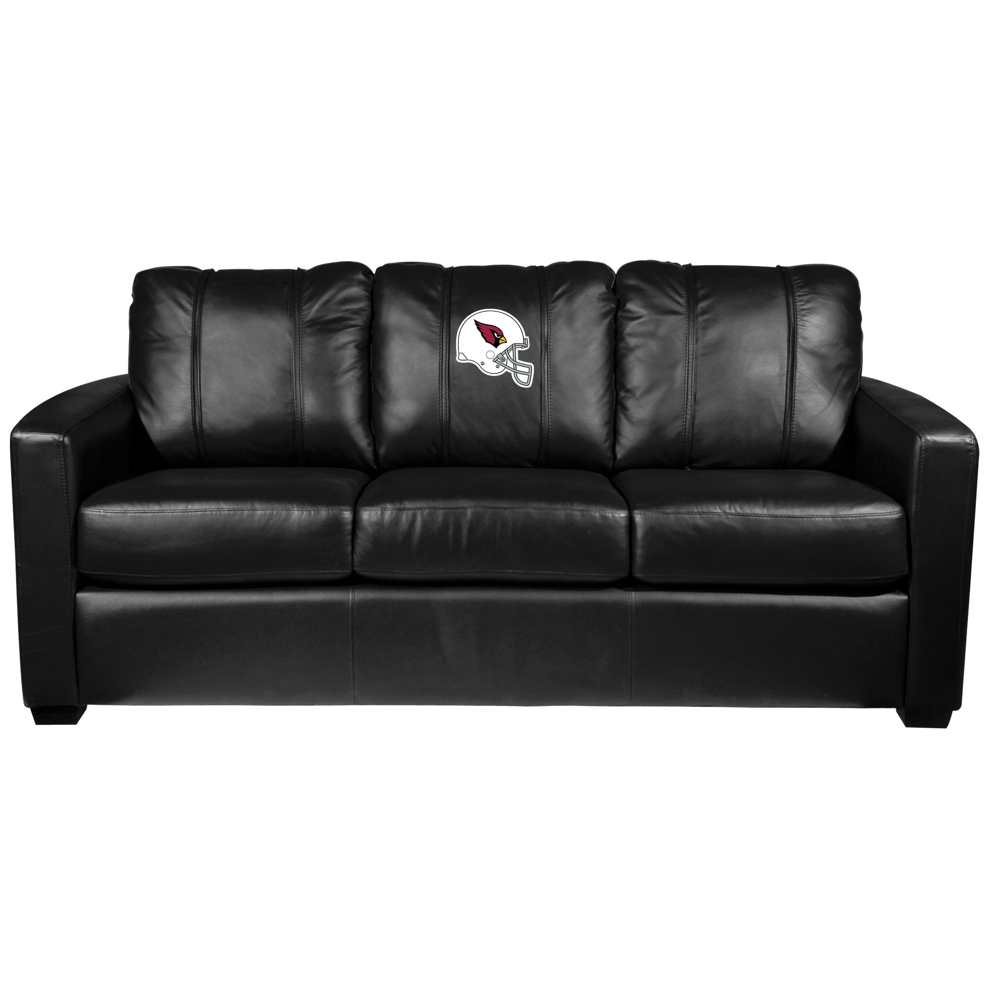 Silver Sofa with Arizona Cardinals Helmet Logo