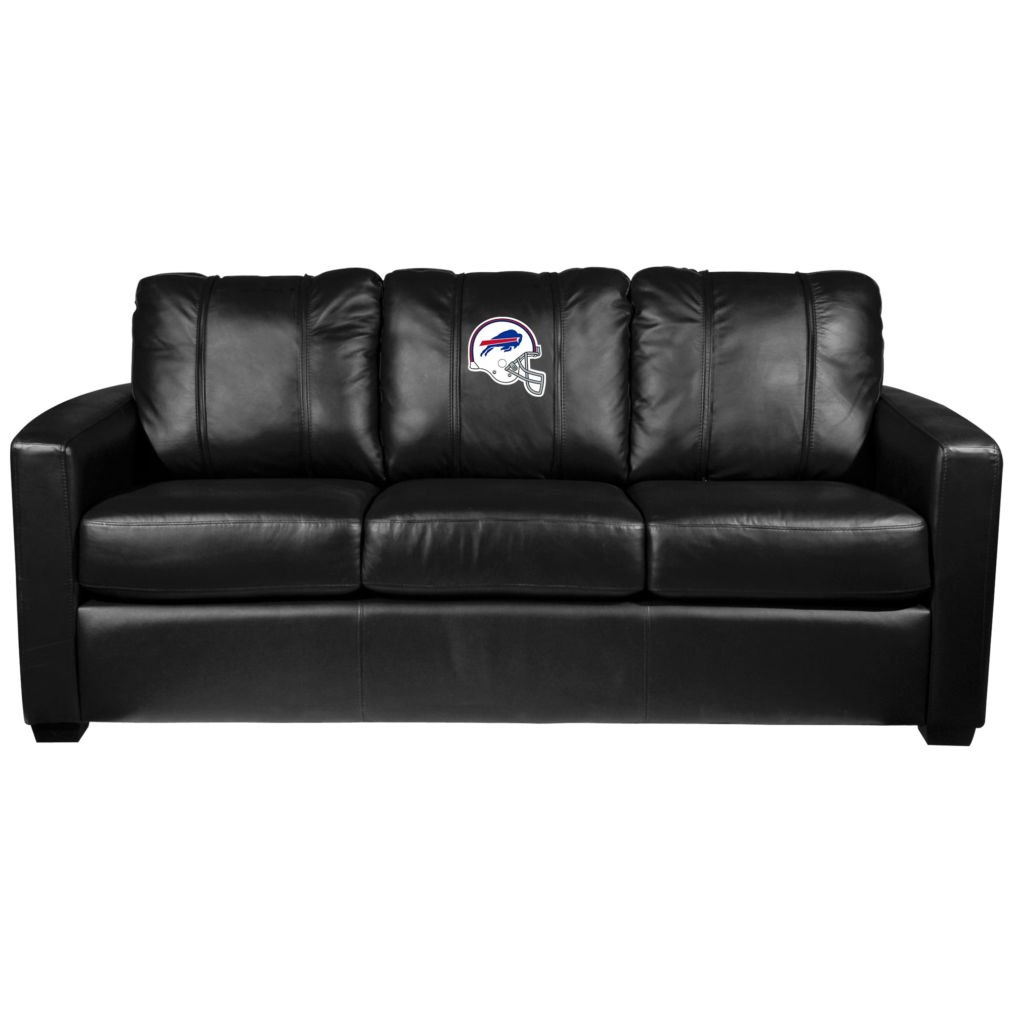 Silver Sofa with  Buffalo Bills Helmet Logo