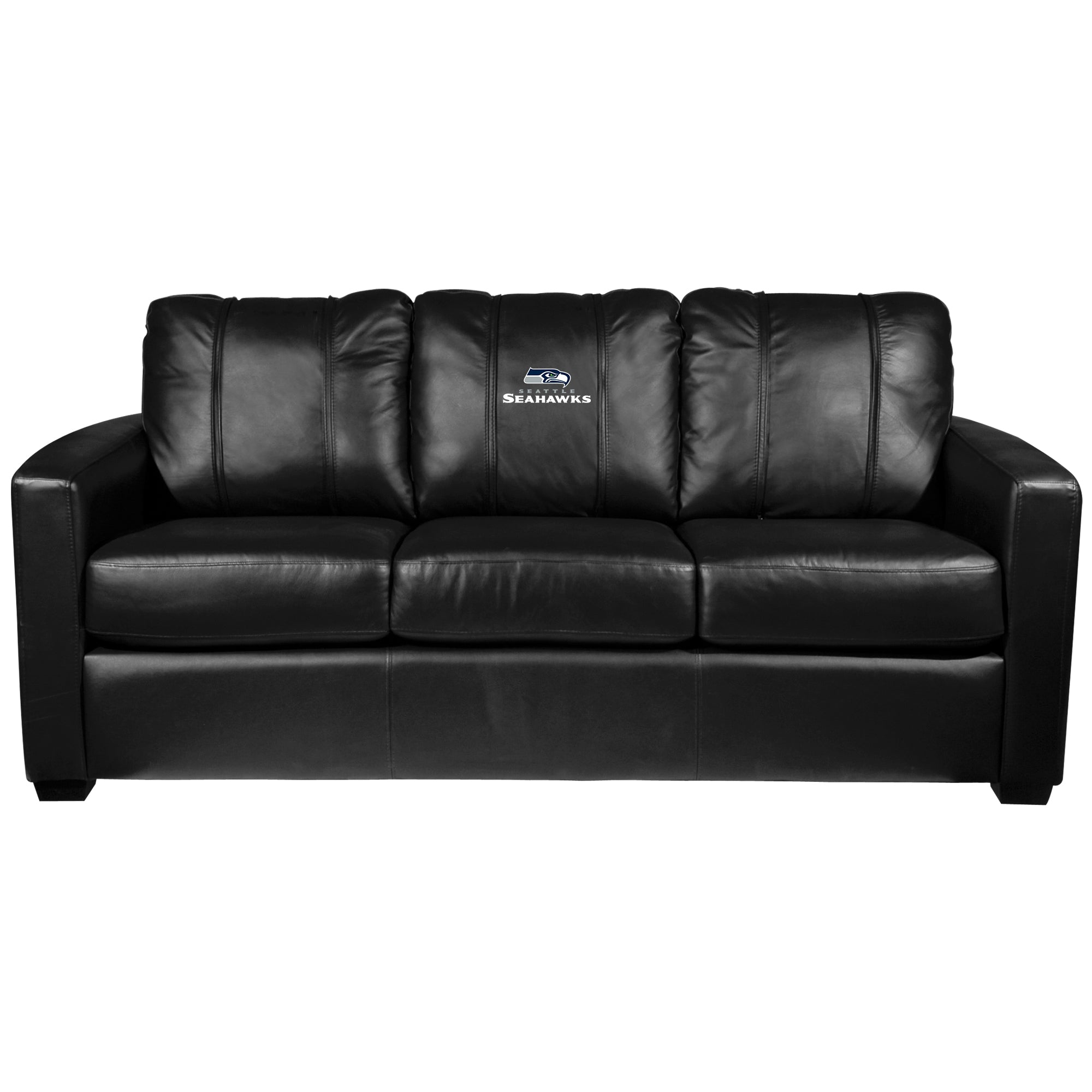 Silver Sofa with  Seattle Seahawks Secondary Logo