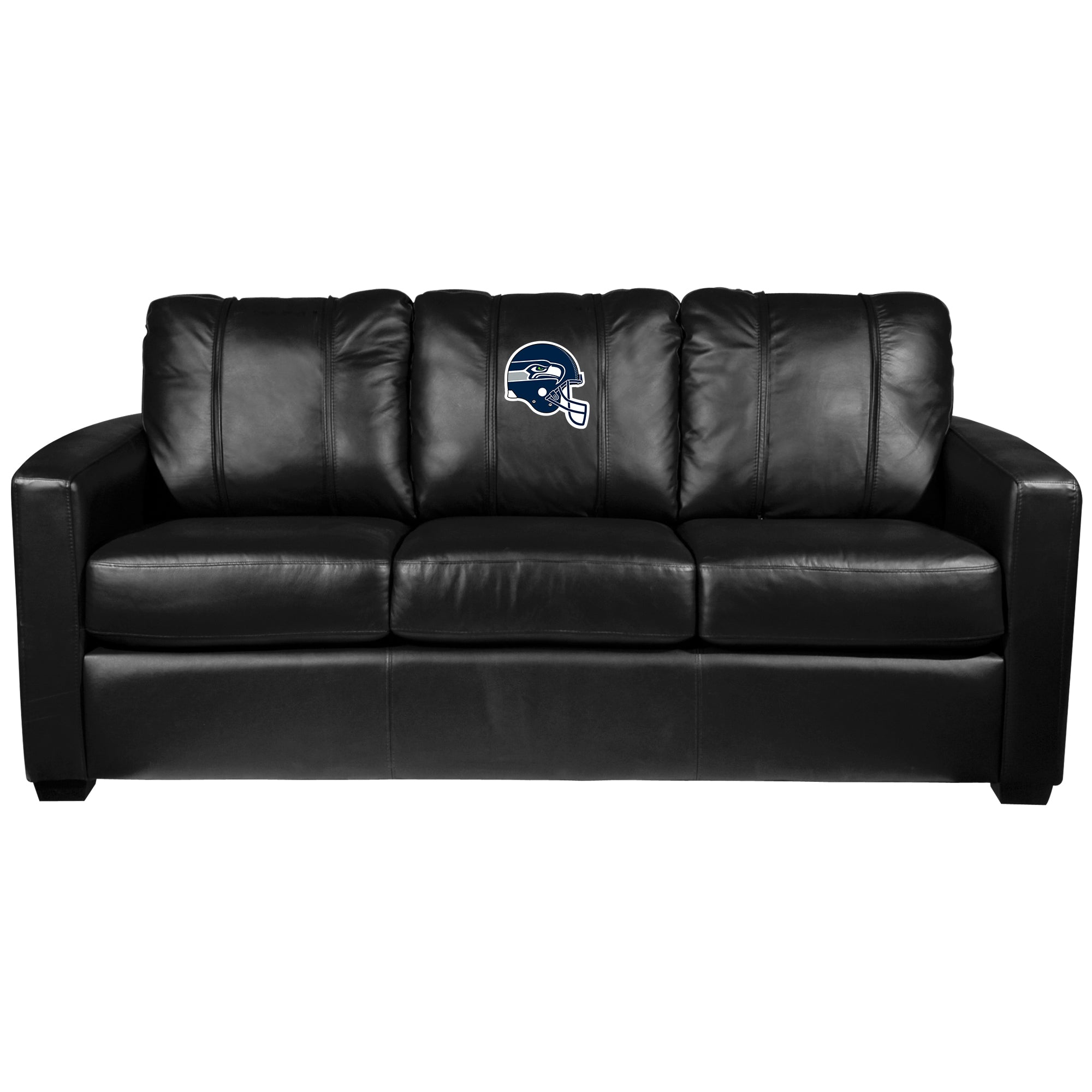Silver Sofa with  Seattle Seahawks Helmet Logo
