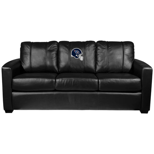Silver Sofa with  Tennessee Titans Helmet Logo