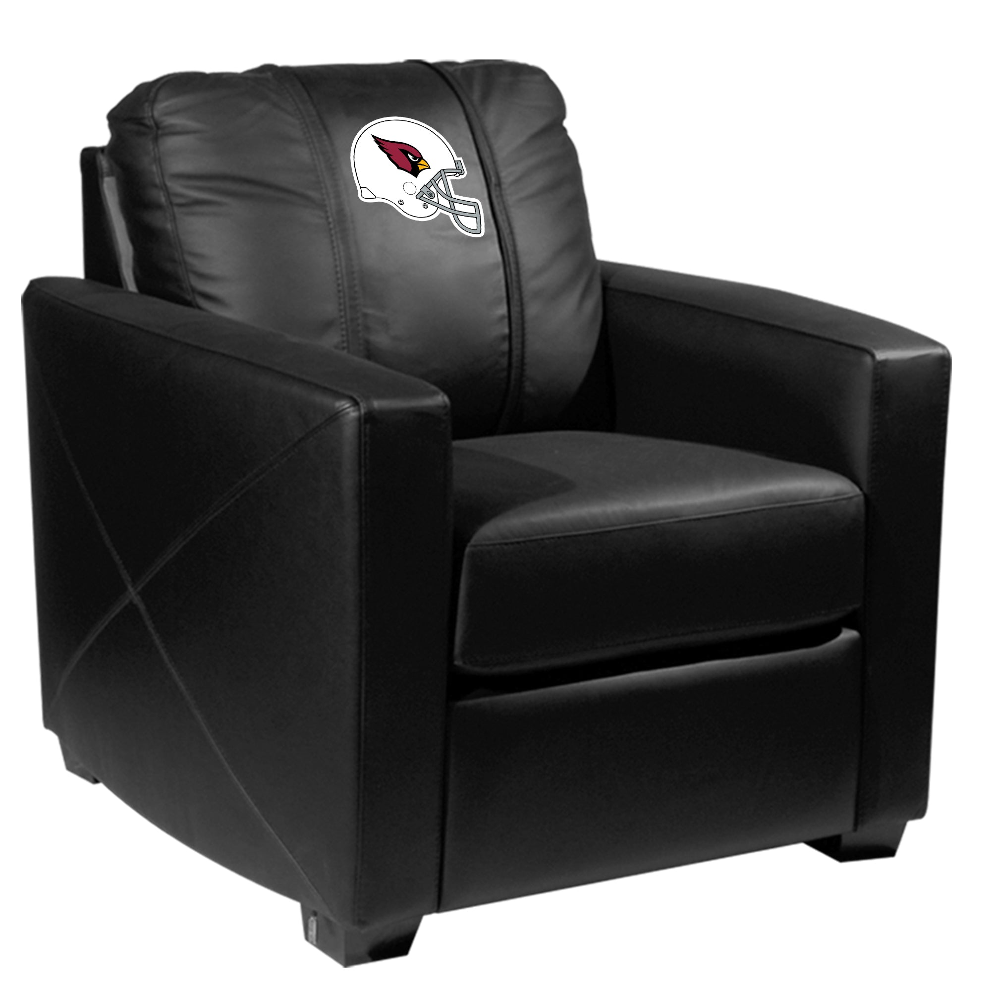 Silver Club Chair with Arizona Cardinals Helmet Logo