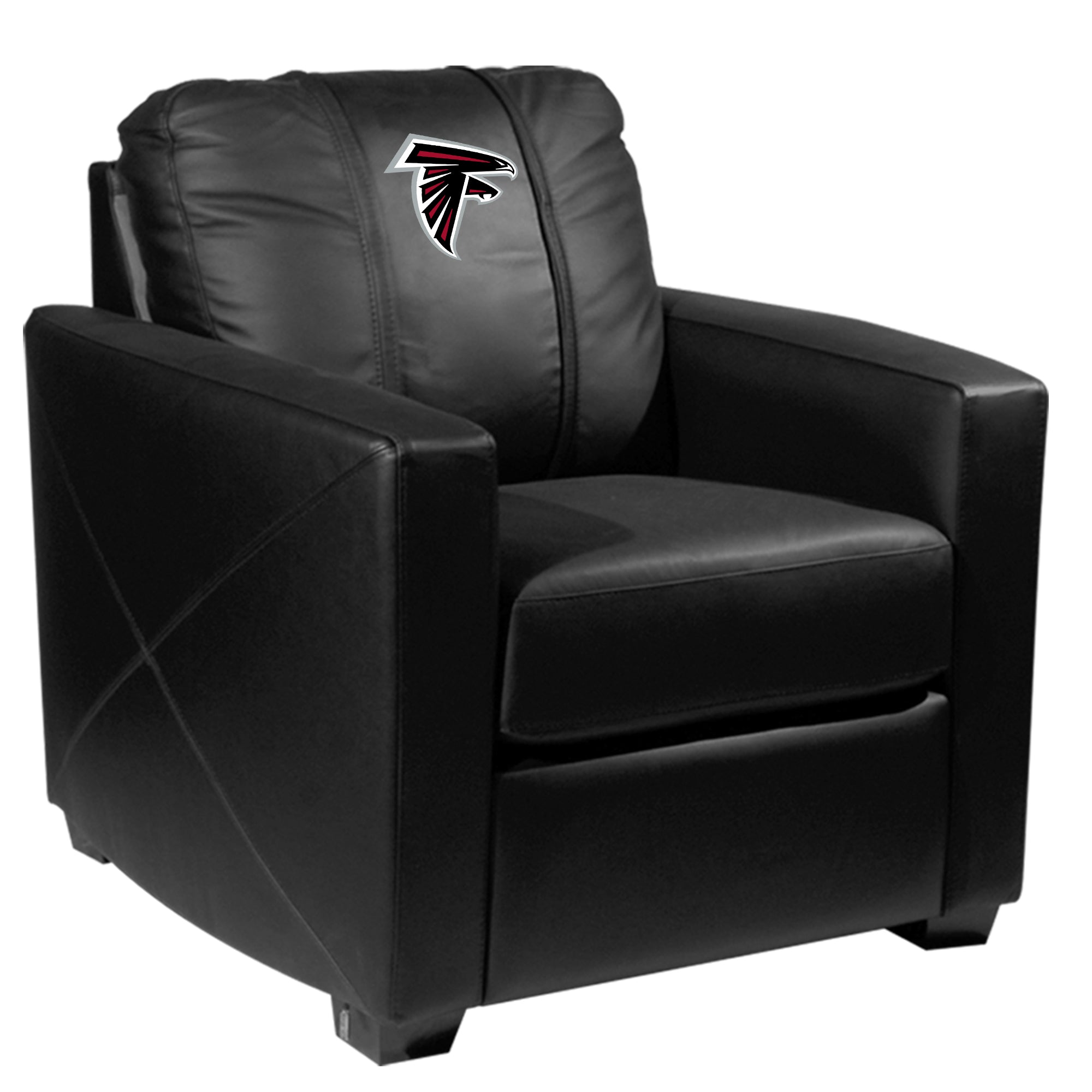 Silver Club Chair with Atlanta Falcons Primary Logo