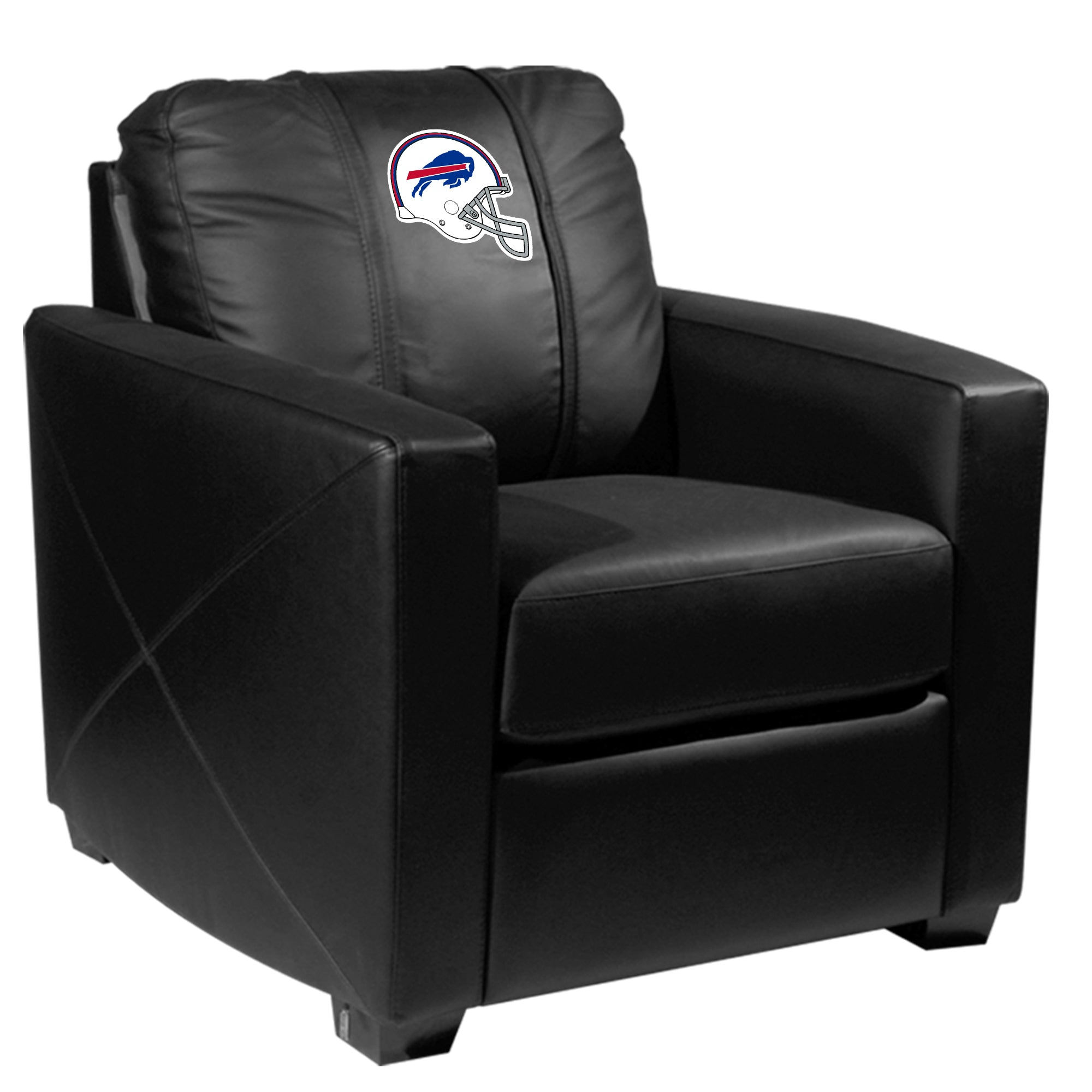 Silver Club Chair with  Buffalo Bills Helmet Logo