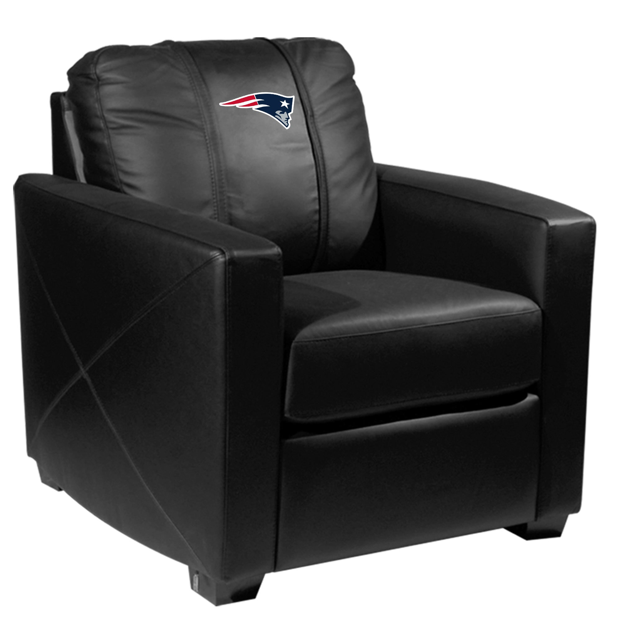Silver Club Chair with  New England Patriots Primary Logo