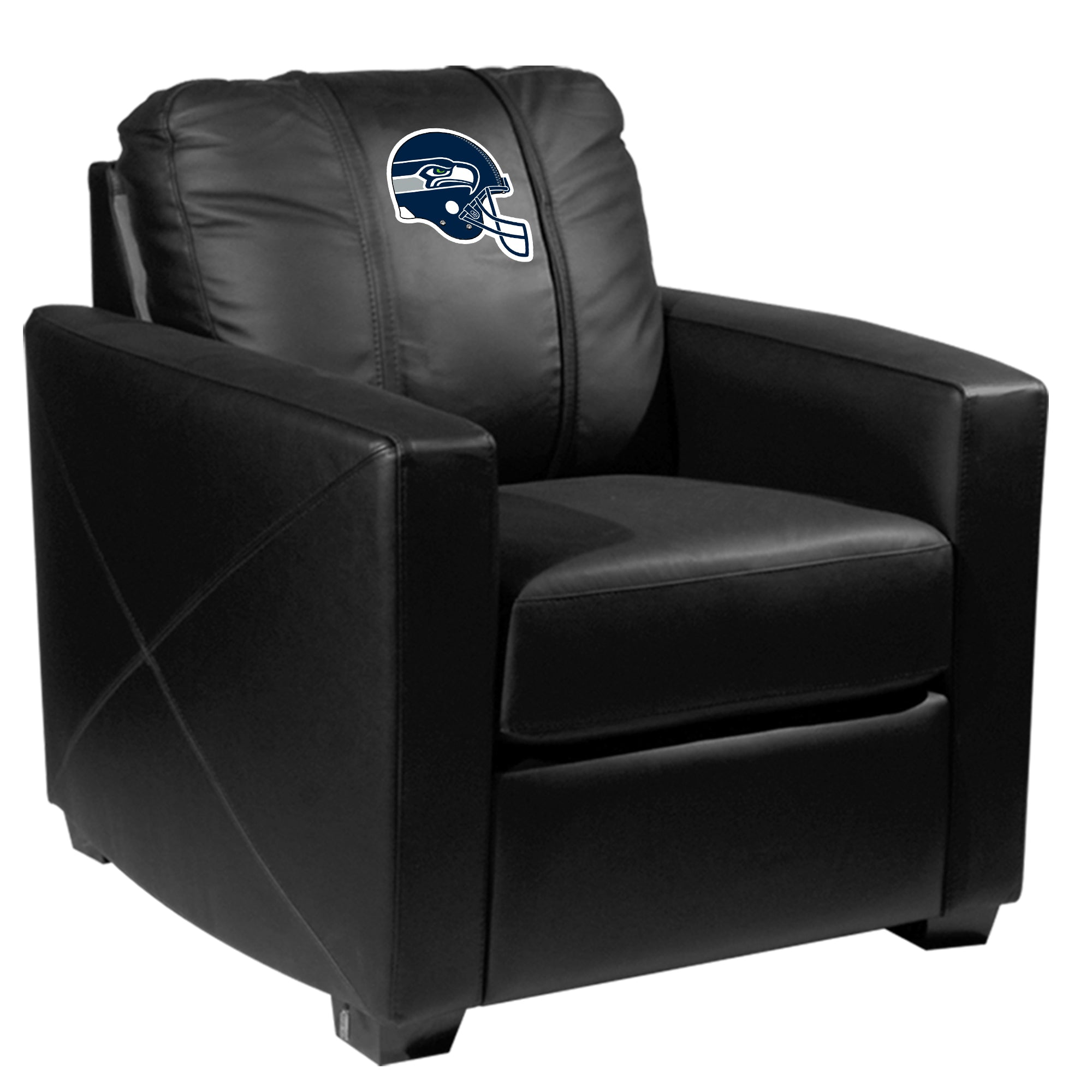 Silver Club Chair with  Seattle Seahawks Helmet Logo