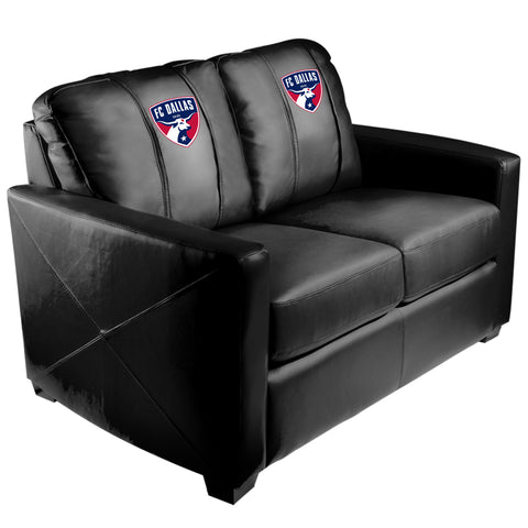 Silver Loveseat with FC Dallas Logo