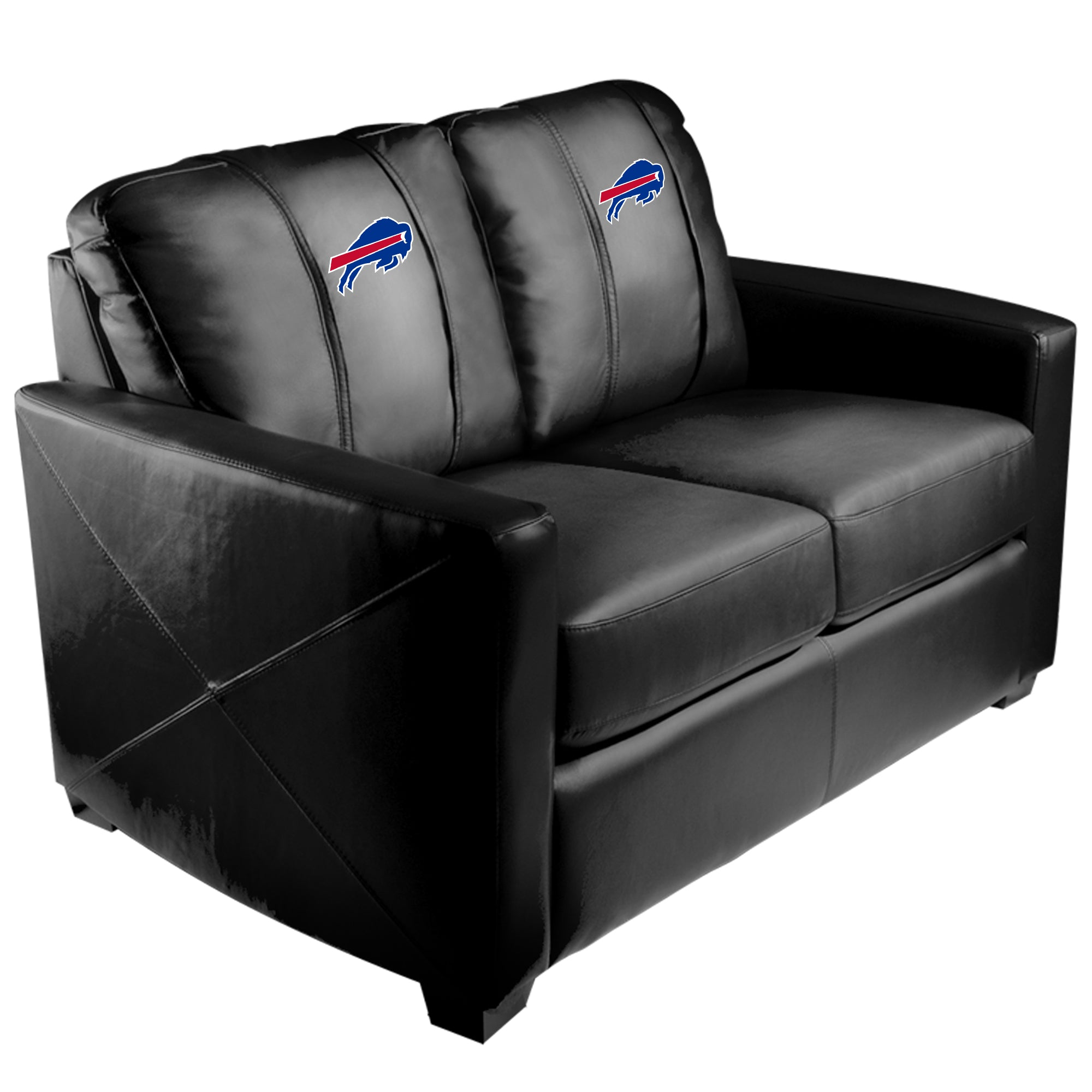 Silver Loveseat with  Buffalo Bills Primary Logo