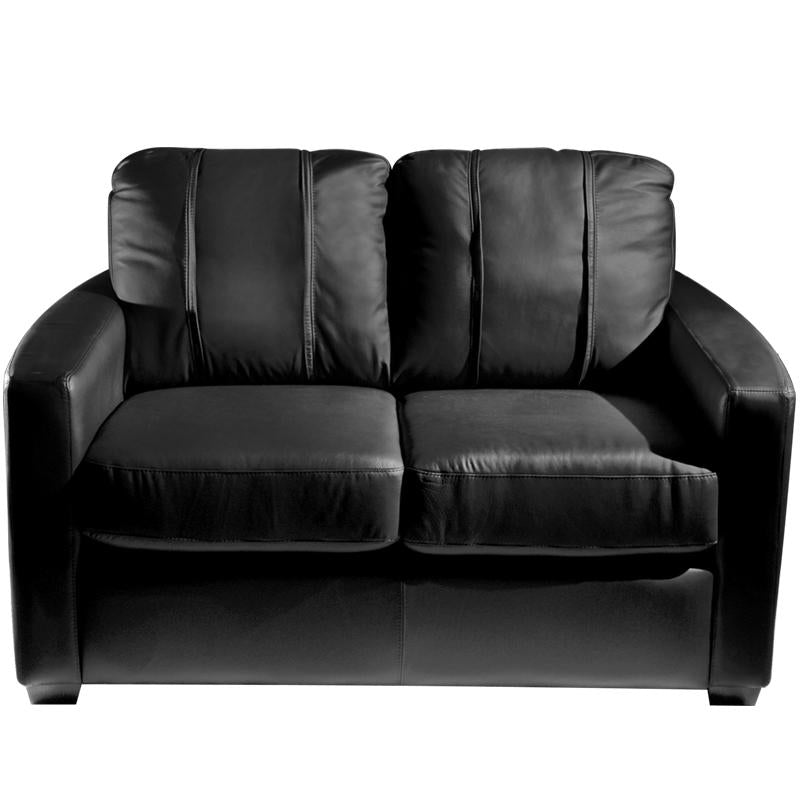 Silver Loveseat with Wichita State Primary Logo