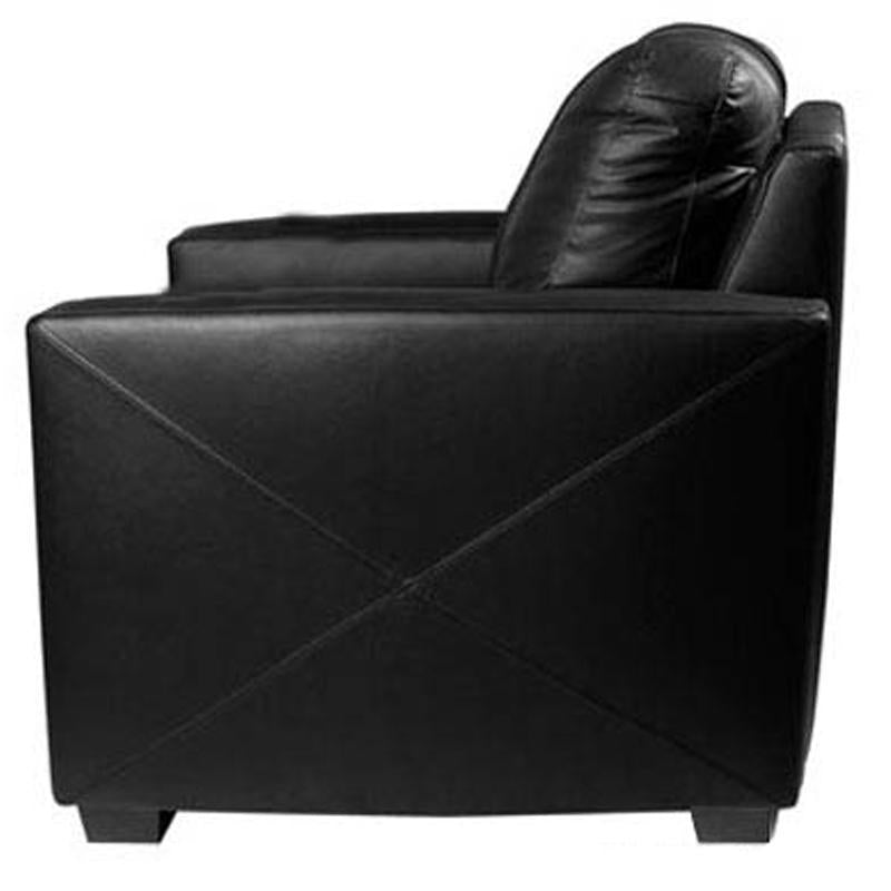 Silver Loveseat with  New Orleans Saints Secondary Logo