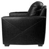 Silver Loveseat with South Dakota Coyotes Emblem Logo