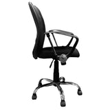 Curve Task Chair with Red Line Skull Logo Panel