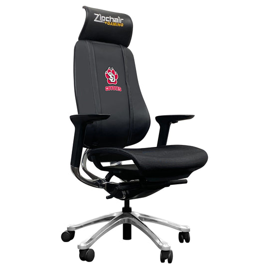 PhantomX Gaming Chair with South Dakota Coyote Paw Logo