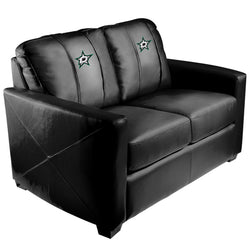 Silver Loveseat with Dallas Stars Logo