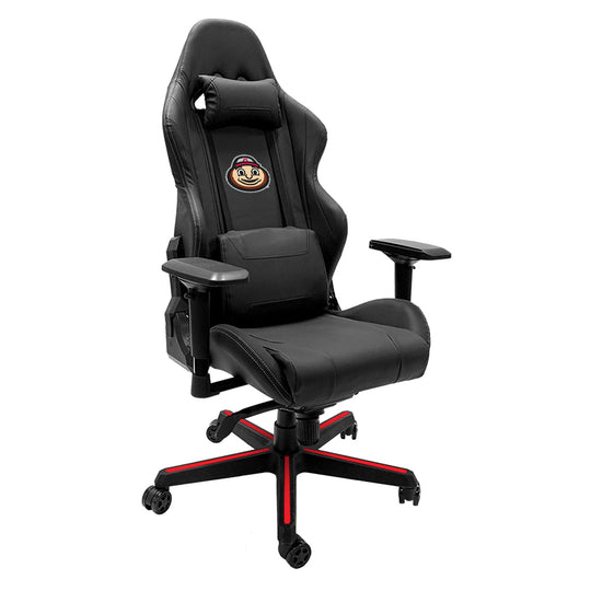 Xpression Gaming Chair with Ohio State University with Buckeyes Brutus Head Logo