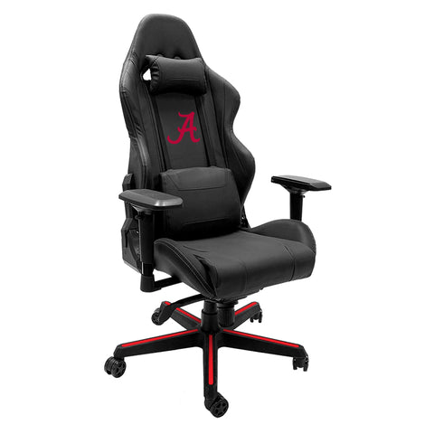 Xpression Gaming Chair with Alabama Crimson Tide with Red A Logo