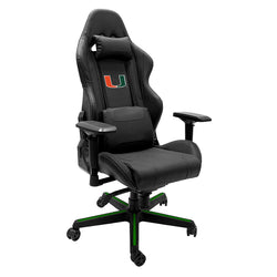 Xpression Gaming Chair with University of Miami Hurricanes Logo Panel