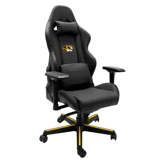 Xpression Gaming Chair with Missouri Tigers Logo