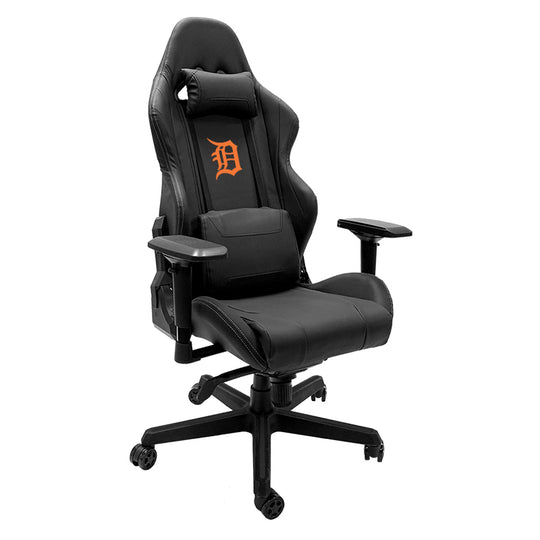 Xpression Gaming Chair with Detroit Tigers Orange Logo
