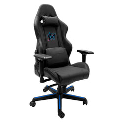 Xpression Gaming Chair with Miami Marlins Secondary Logo