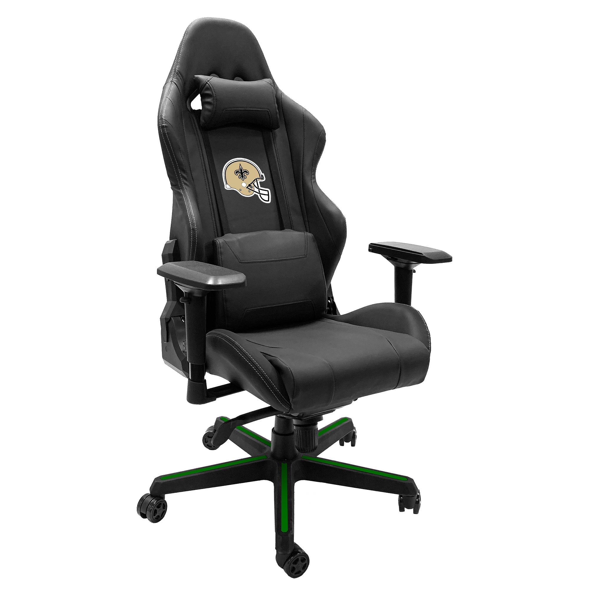 Xpression Gaming Chair with  New Orleans Saints Helmet Logo