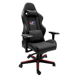 Xpression Gaming Chair with Columbus Blue Jackets Logo
