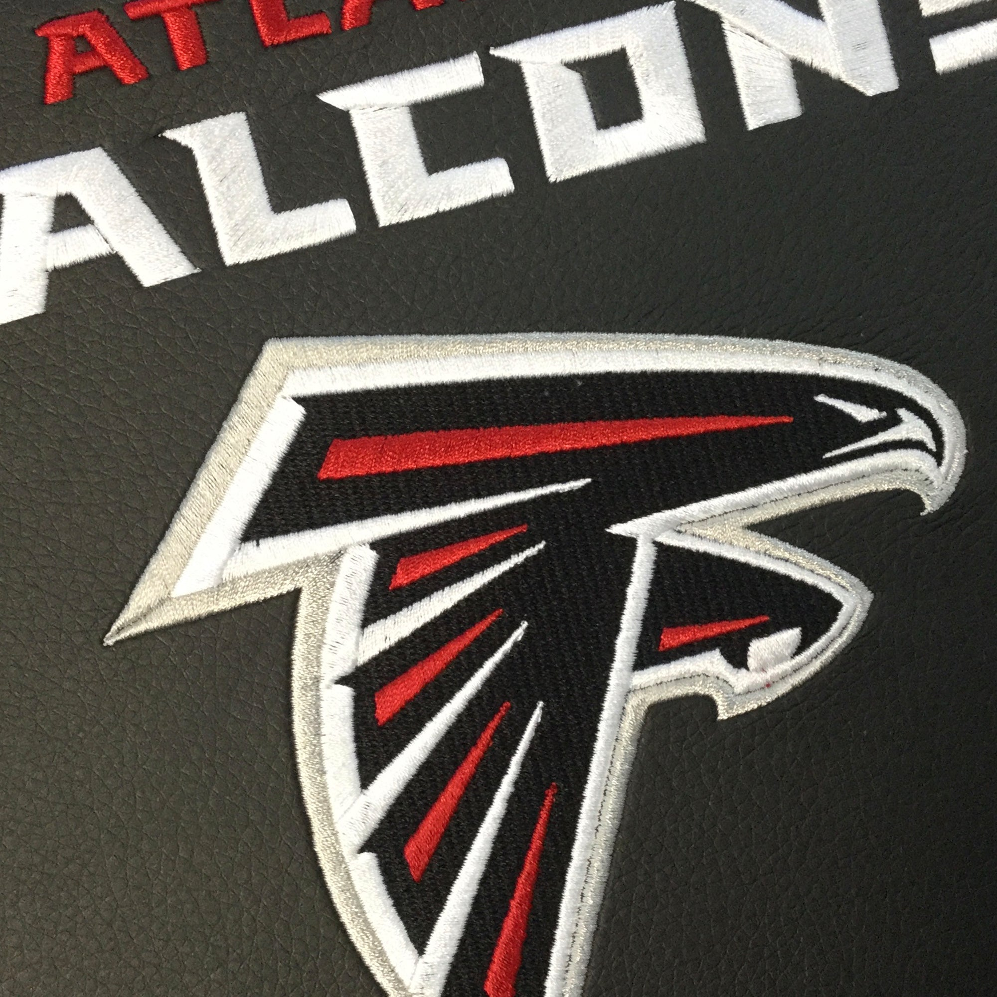 Silver Club Chair with Atlanta Falcons Secondary Logo