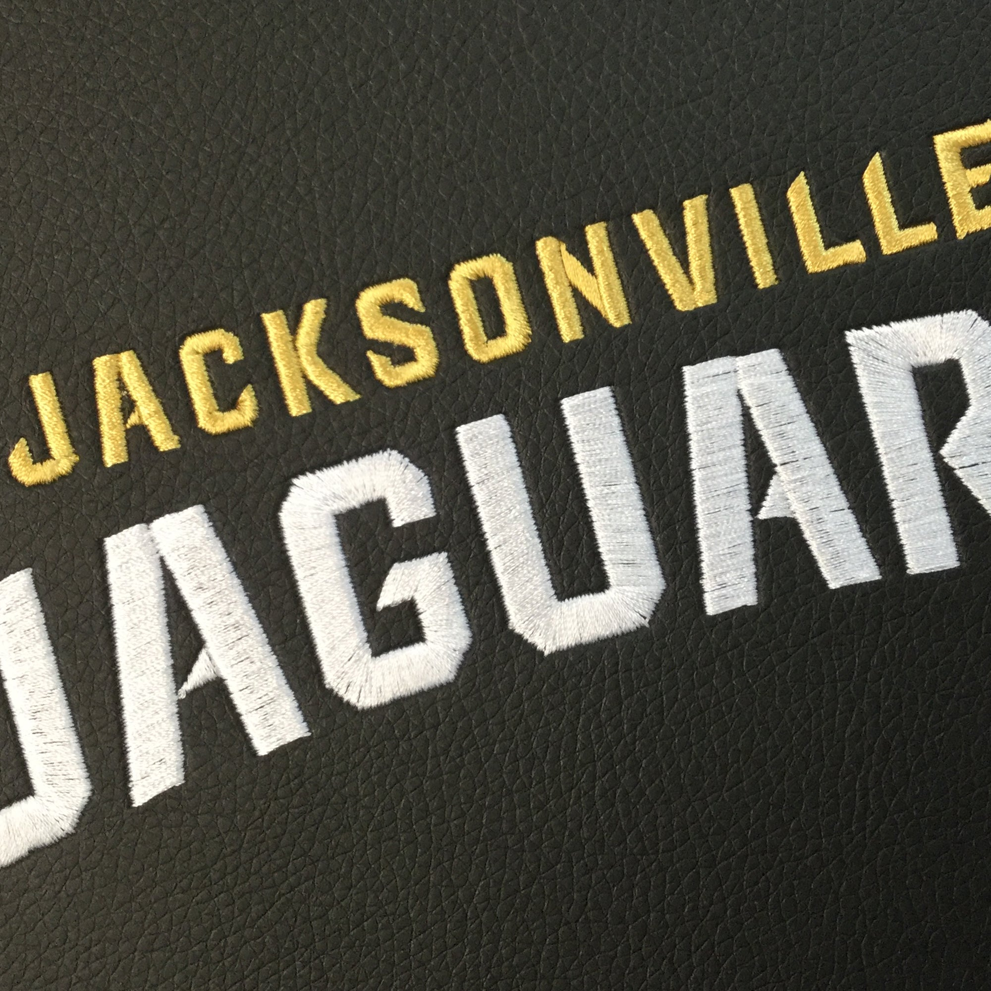 Silver Sofa with  Jacksonville Jaguars Secondary Logo