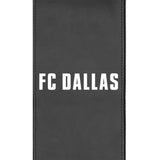 Silver Loveseat with FC Dallas Wordmark Logo