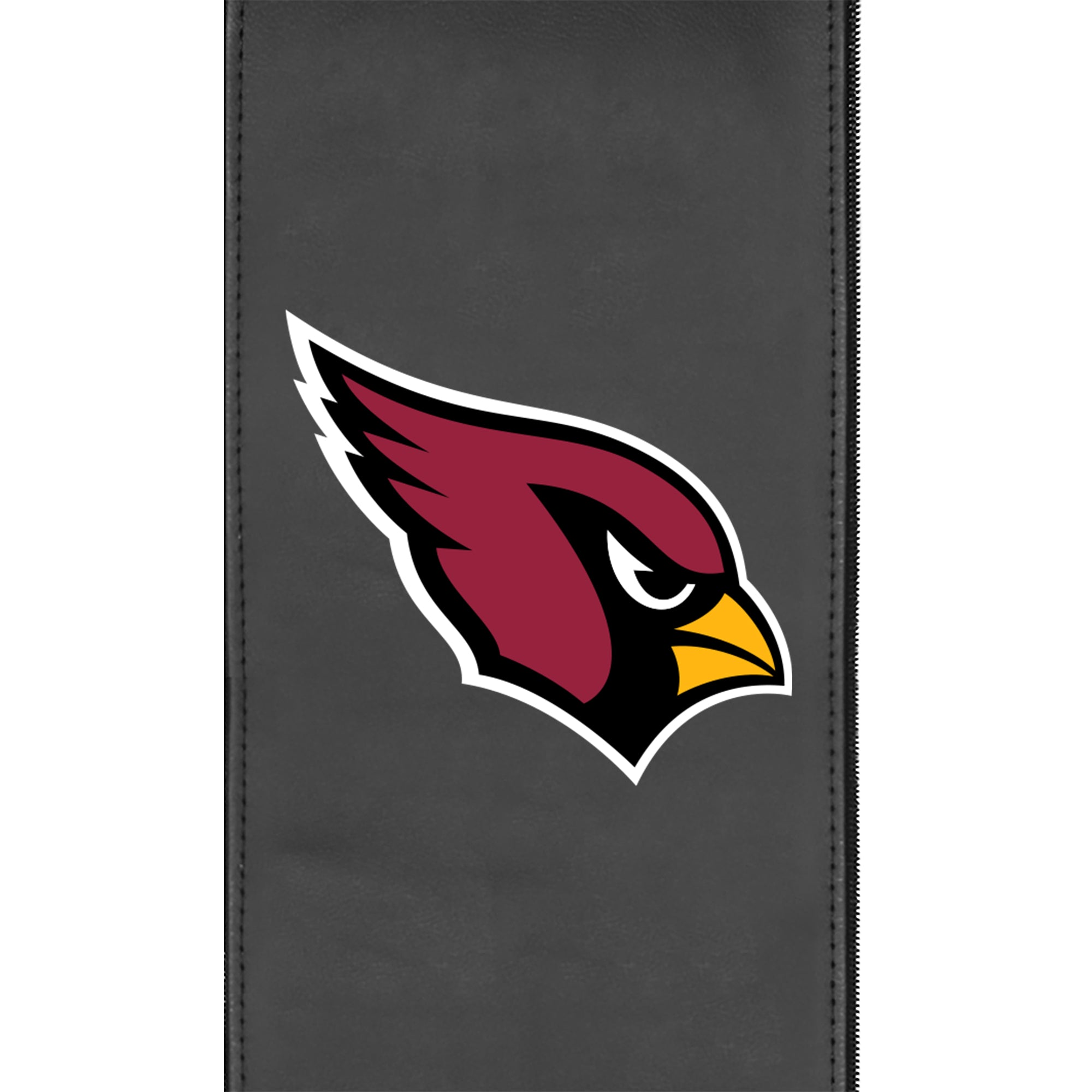 Silver Loveseat with Arizona Cardinals Primary Logo
