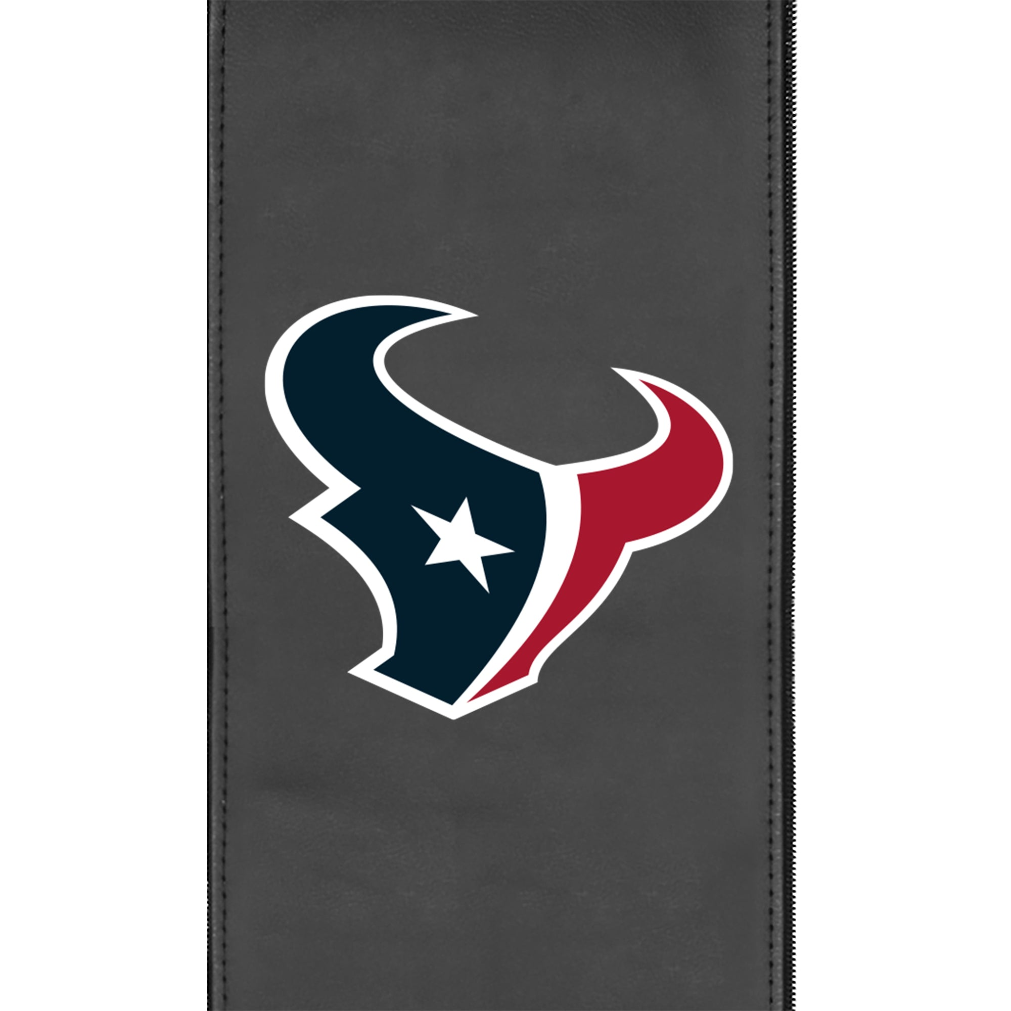 Silver Loveseat with  Houston Texans Primary Logo