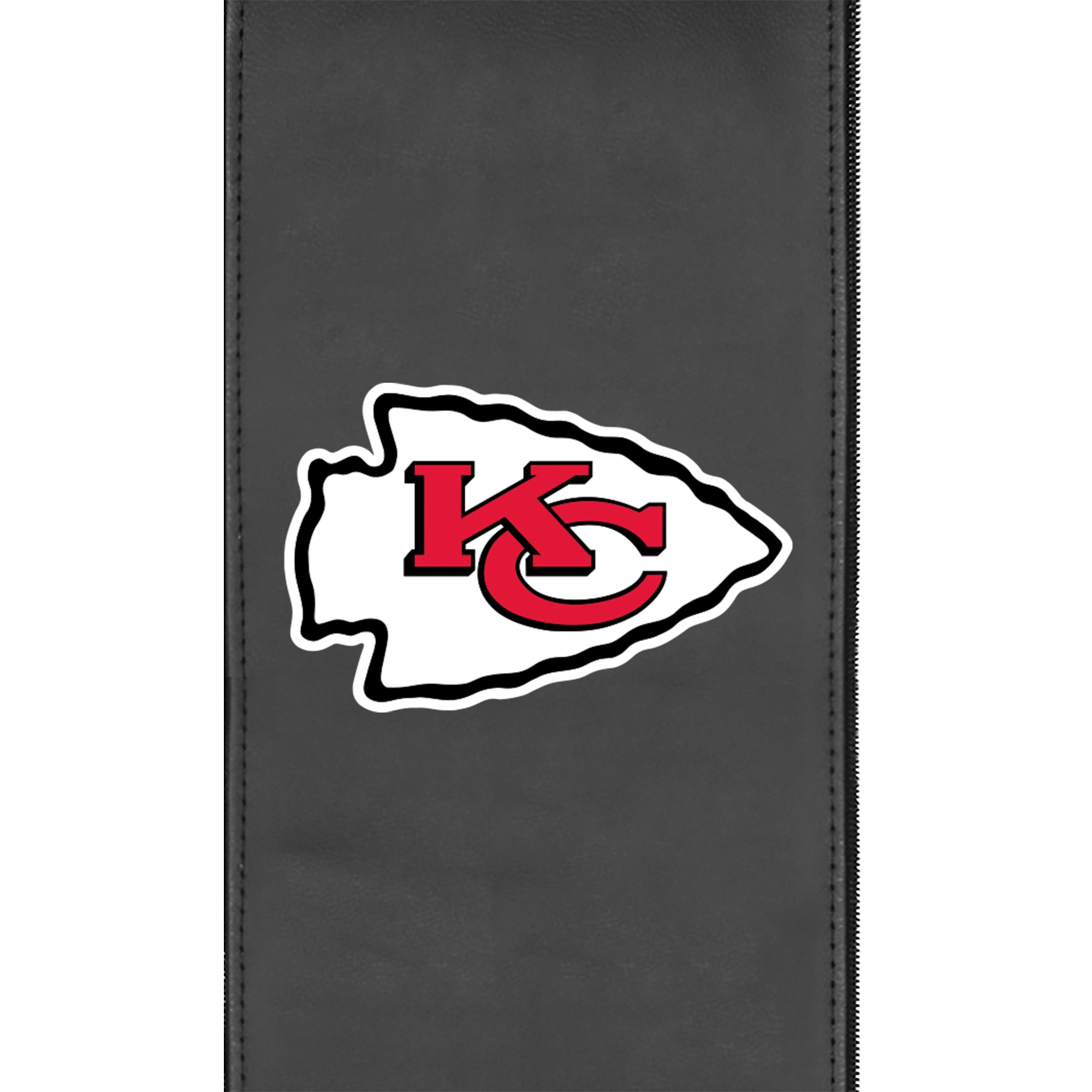 Silver Club Chair with  Kansas City Chiefs Primary Logo