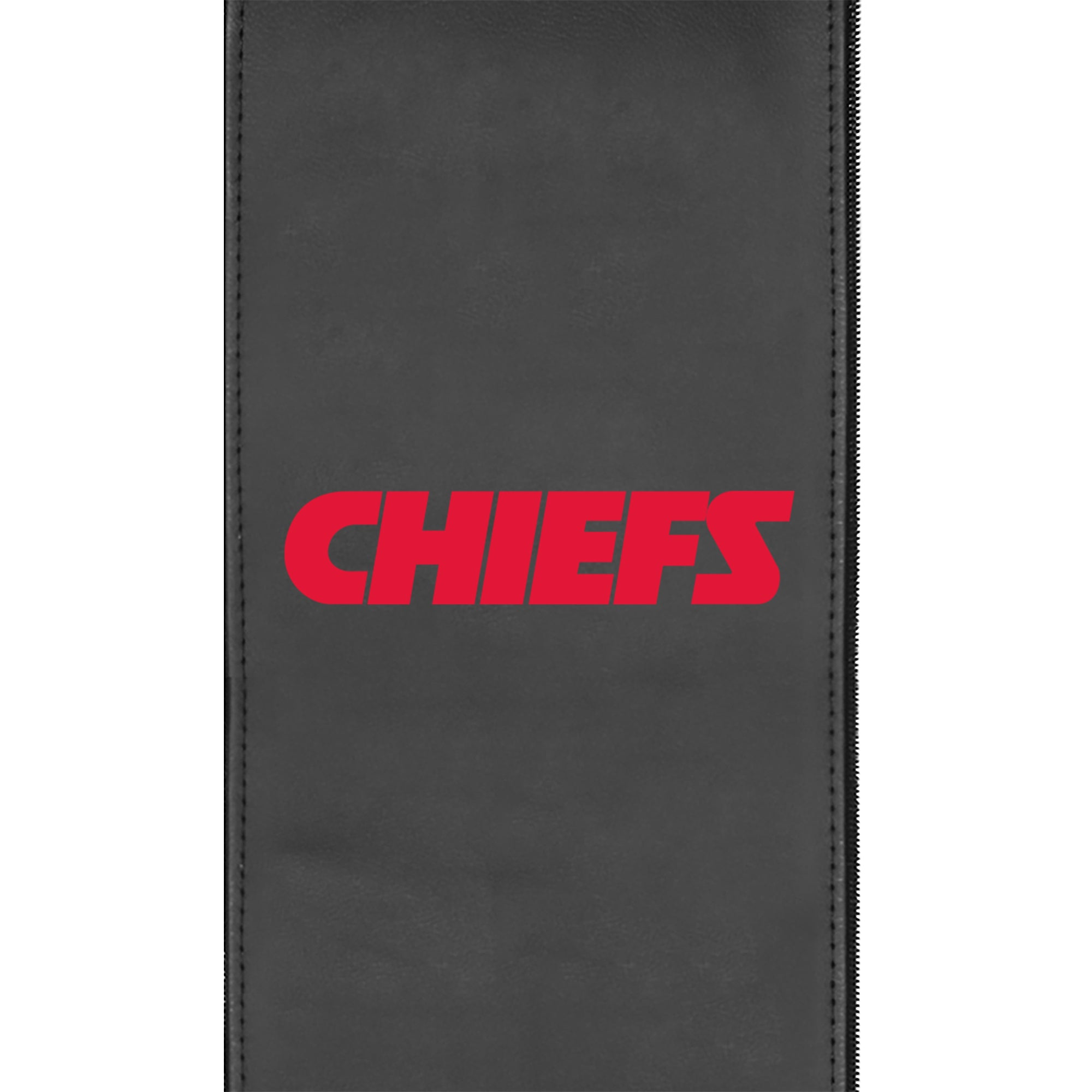 Silver Club Chair with  Kansas City Chiefs Secondary Logo