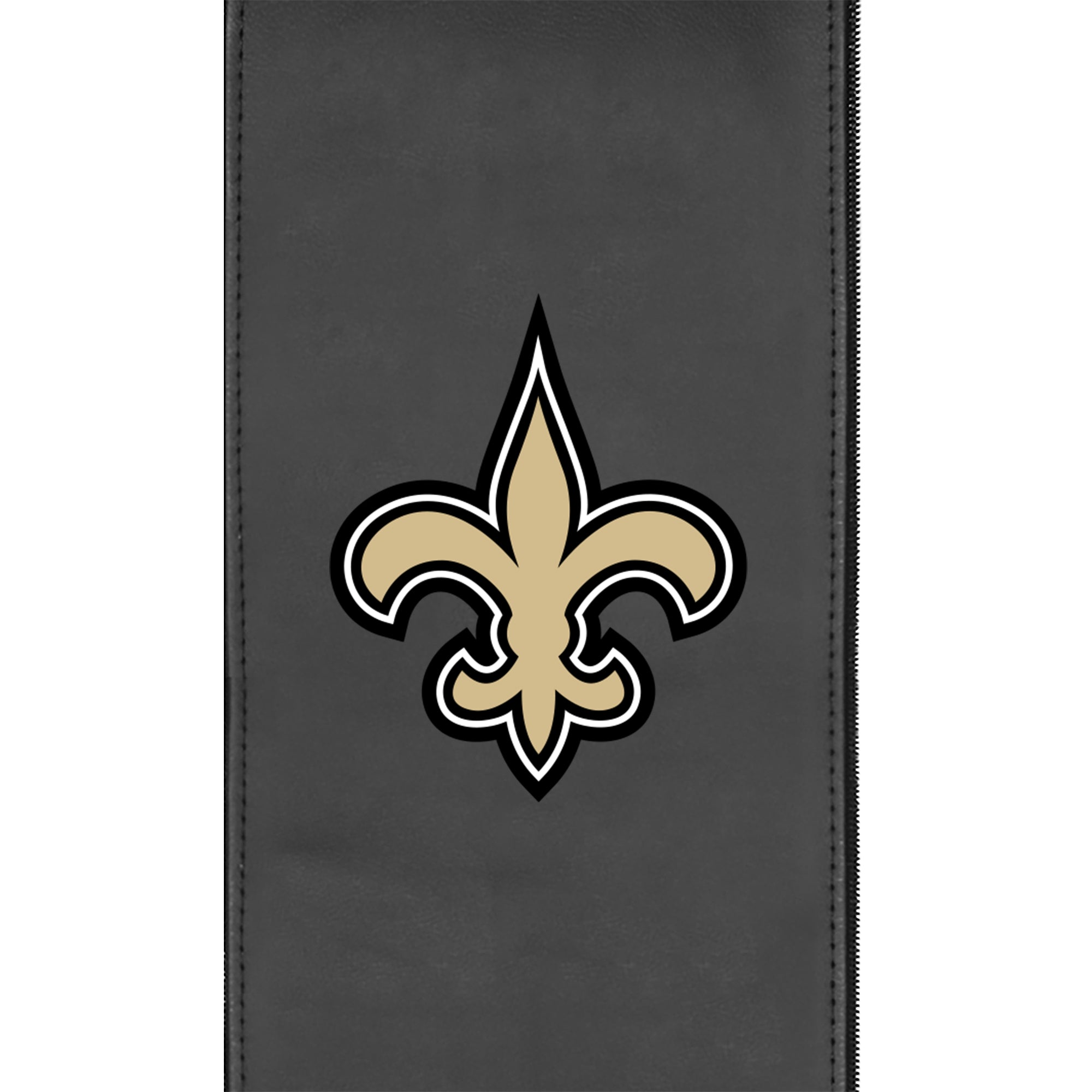 Silver Club Chair with  New Orleans Saints Primary Logo