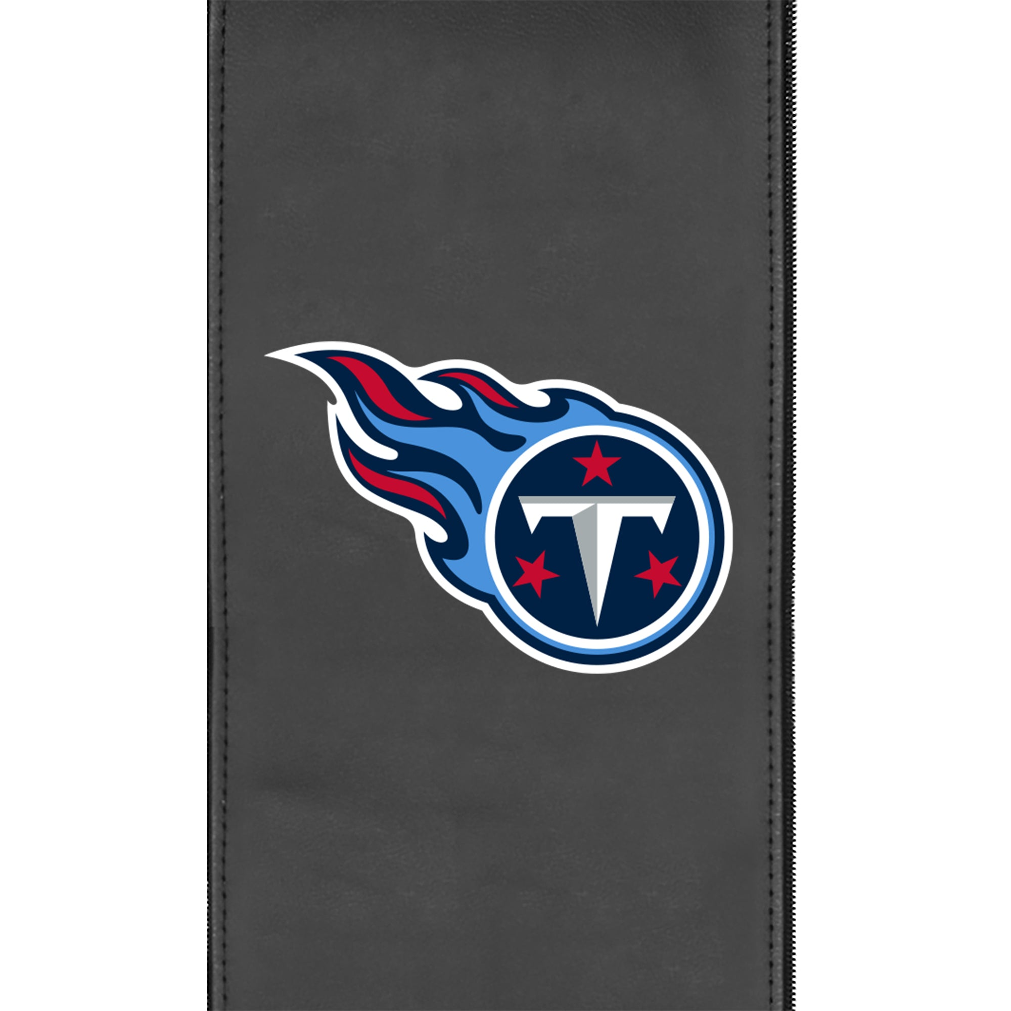 Silver Sofa with  Tennessee Titans Primary Logo