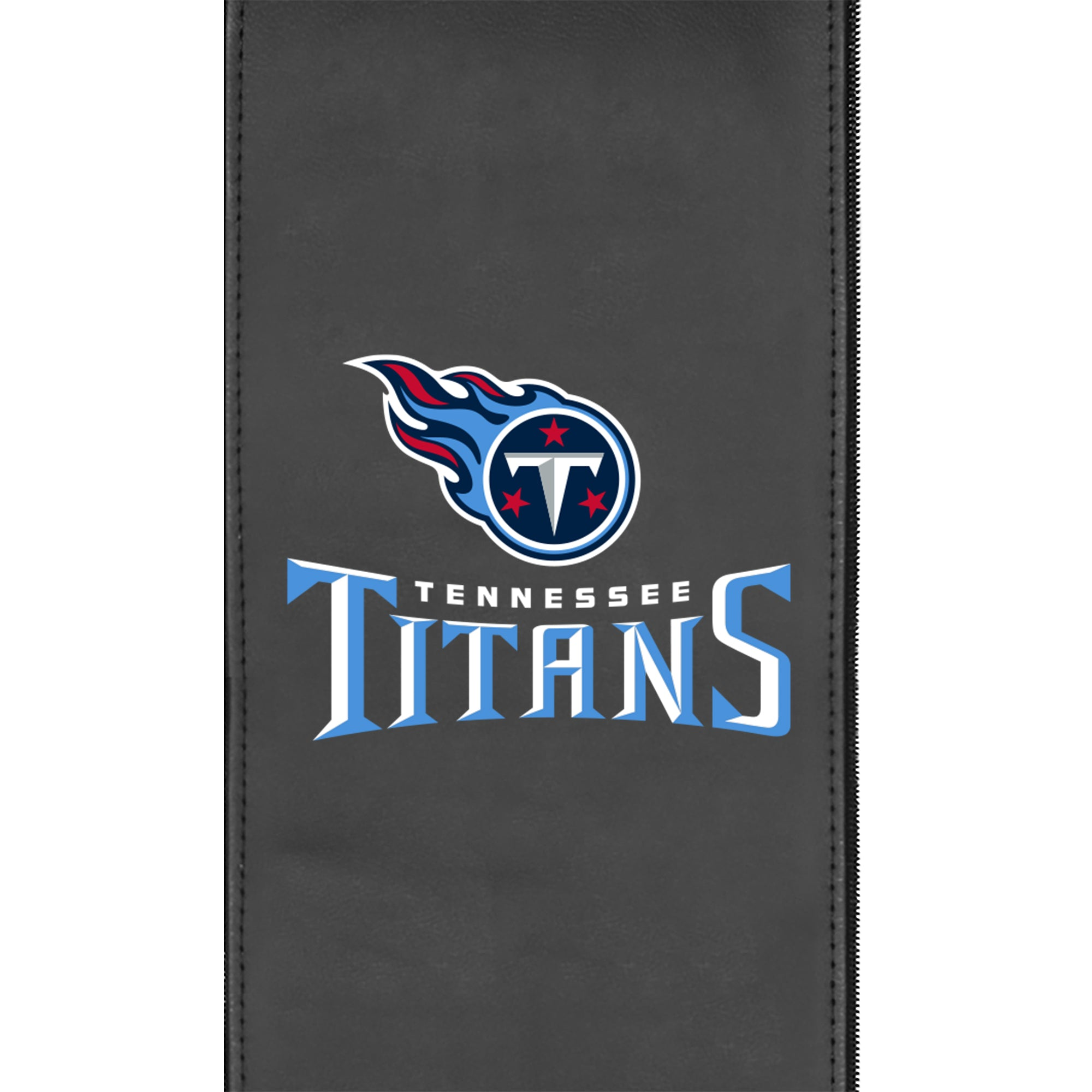 Silver Club Chair with  Tennessee Titans Secondary Logo