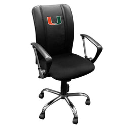 Curve Task Chair with Miami Hurricanes Logo