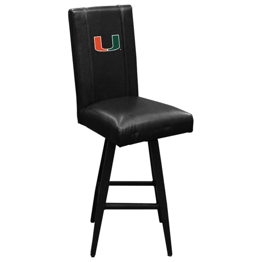 Swivel Bar Stool 2000 with Miami Hurricanes Logo