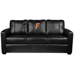 Silver Sofa with Florida Gators Letter F Logo Panel