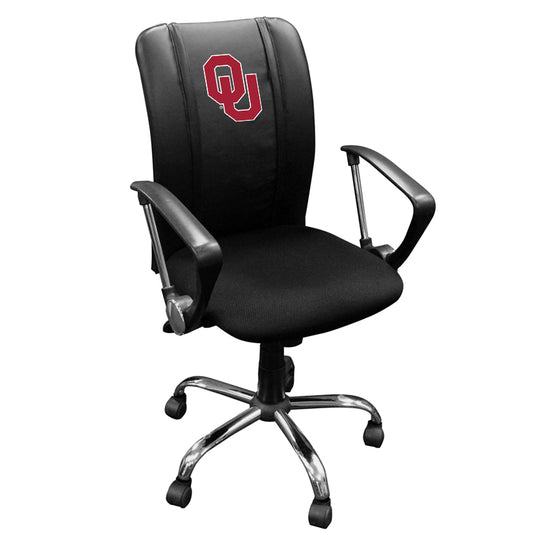 Curve Task Chair with Oklahoma Sooners Logo