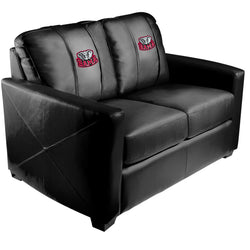 Silver Loveseat with Alabama Crimson Tide Bama Logo