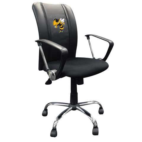 Curve Task Chair with Georgia Tech Yellow Jackets Buzz Logo