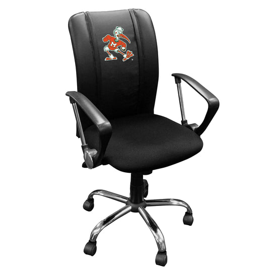 Curve Task Chair with Miami Hurricanes Secondary Logo