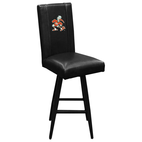 Swivel Bar Stool 2000 with Miami Hurricanes Secondary Logo