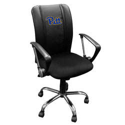 Curve Task Chair with Pittsburgh Panthers Logo