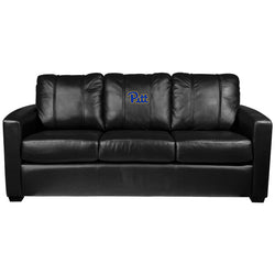 Silver Sofa with Pittsburgh Panthers Logo