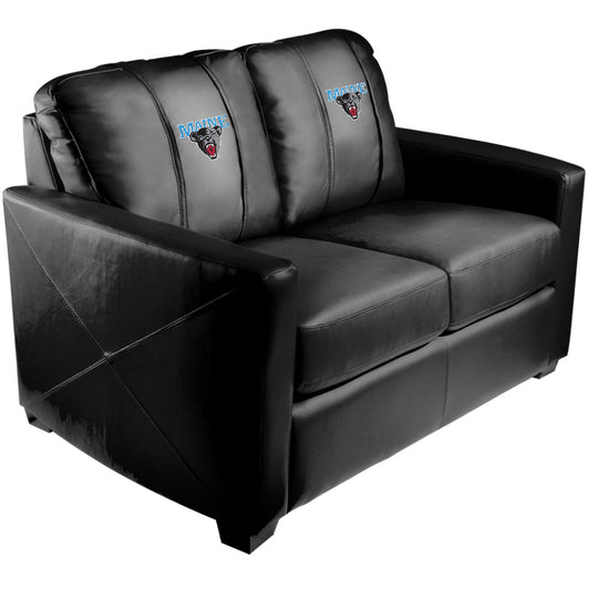 Silver Loveseat with Maine Black Bears Logo