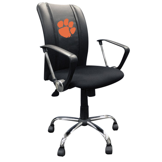 Curve Task Chair with Clemson Tigers Logo