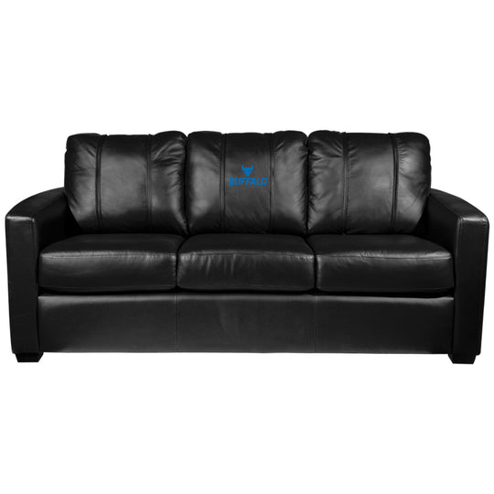 Silver Sofa with Buffalo Bulls Logo