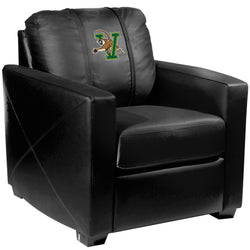 Silver Club Chair with Vermont Catamounts Logo